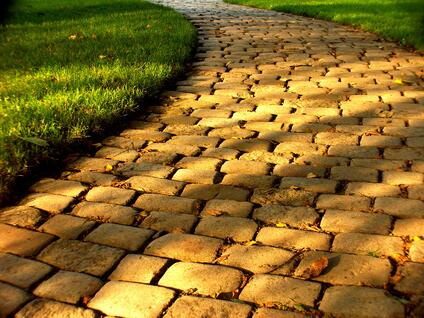 The yellow brick road representing Dorothy's customer journey