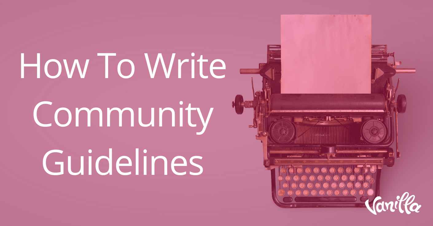 How To Write Community Guidelines
