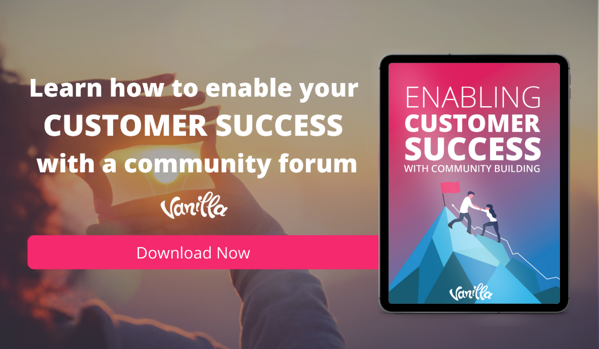 Enabling customer success with community building