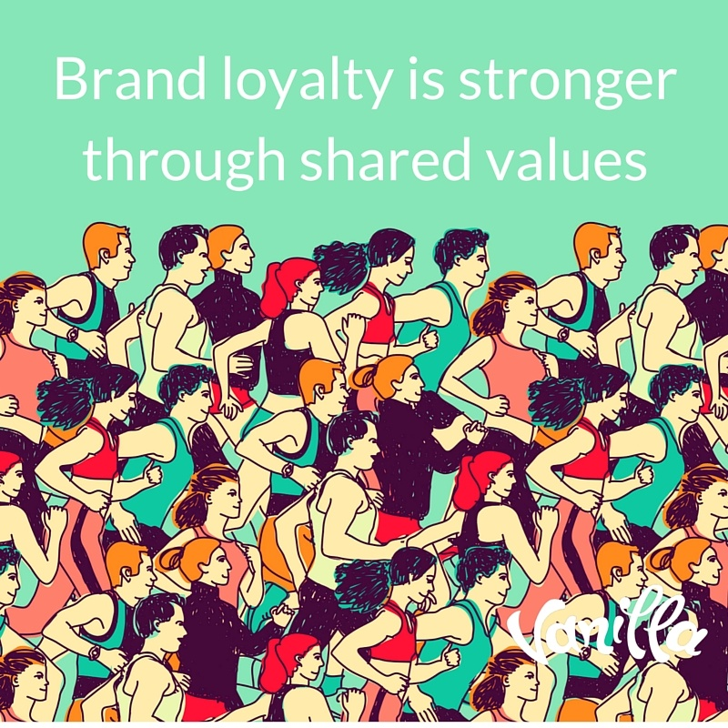 Brand loyalty is stronger through shared values