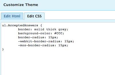 Add CSS to override