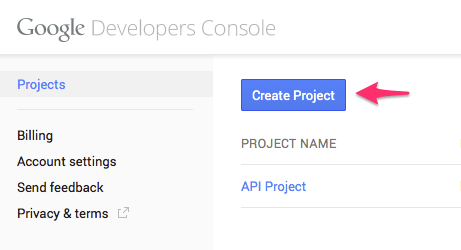 Google_Developers_Console_Project