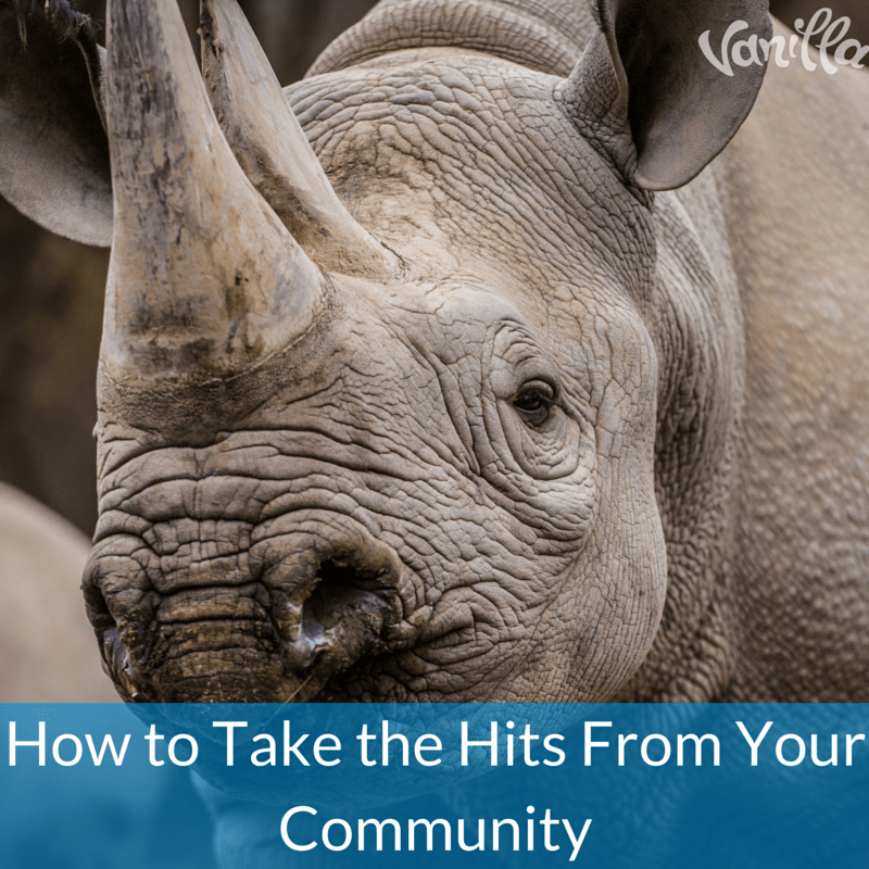 How to Take the Hits From Your Community
