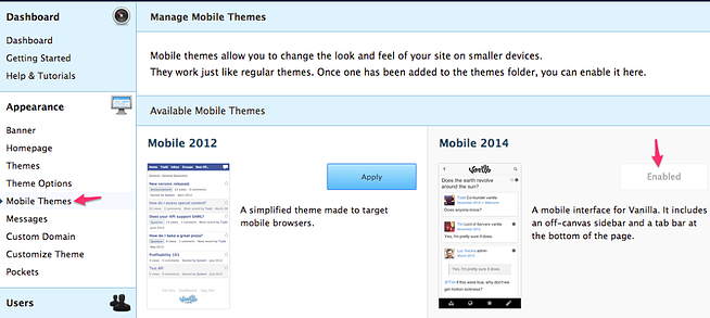 Native Mobile Theme for Community Forum