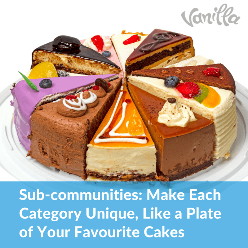 Sub-communities- Let's Each Category Be Unique, like a plate of your favourite cakes (2)