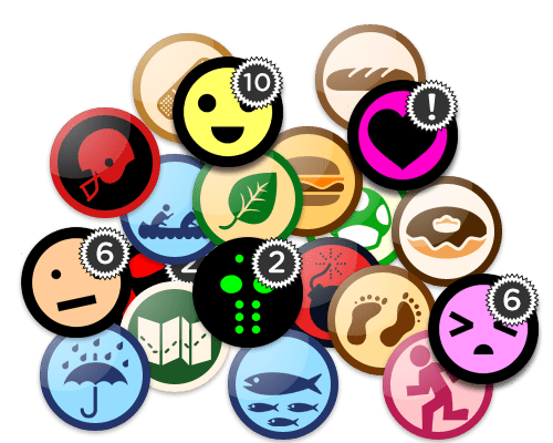 badges-and-reactions
