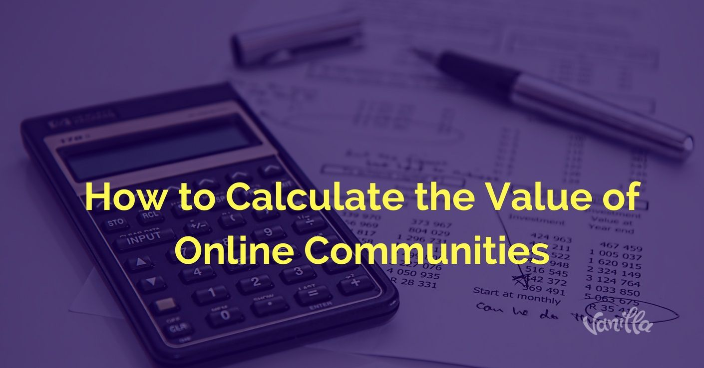 calculate roi for online communities