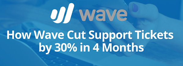 Wave case study - how they cut support tickets by 30% in 4 months