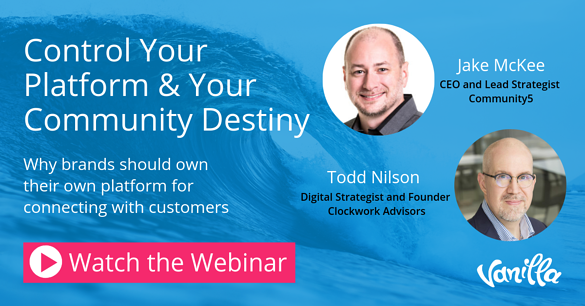 Webinar - Control your platform and community destiny