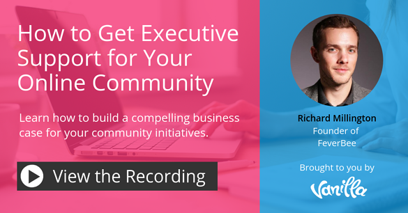 Webinar - How to get exec support for your community