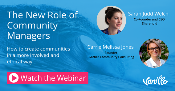 Webinar - The new role of community managers
