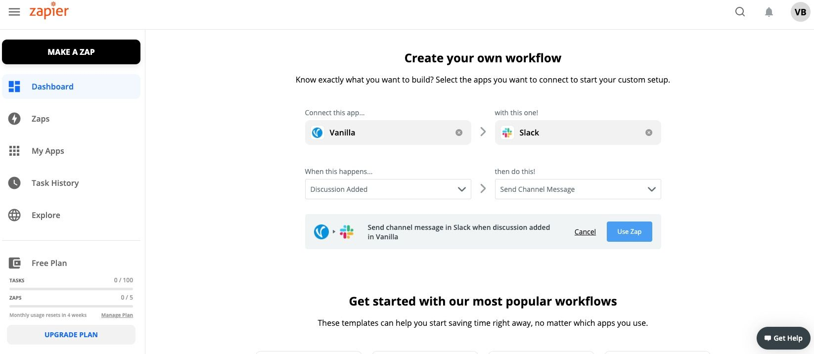 zapier integration workflow