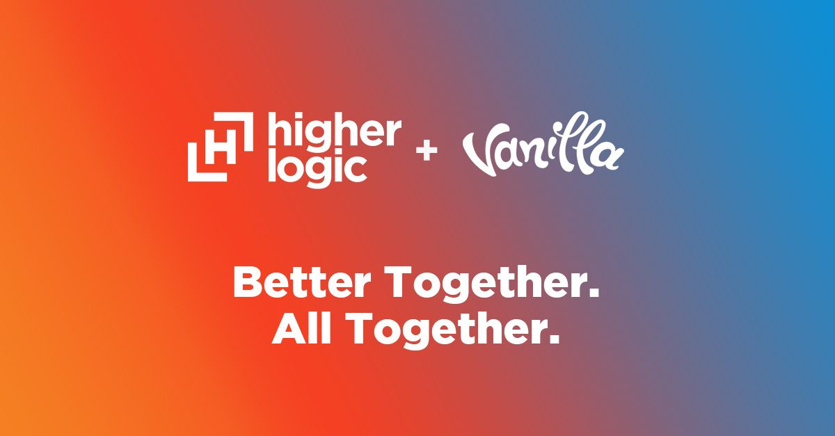 🧡 💙  Higher Logic + Vanilla. Better Together. All Together. 💙 🧡