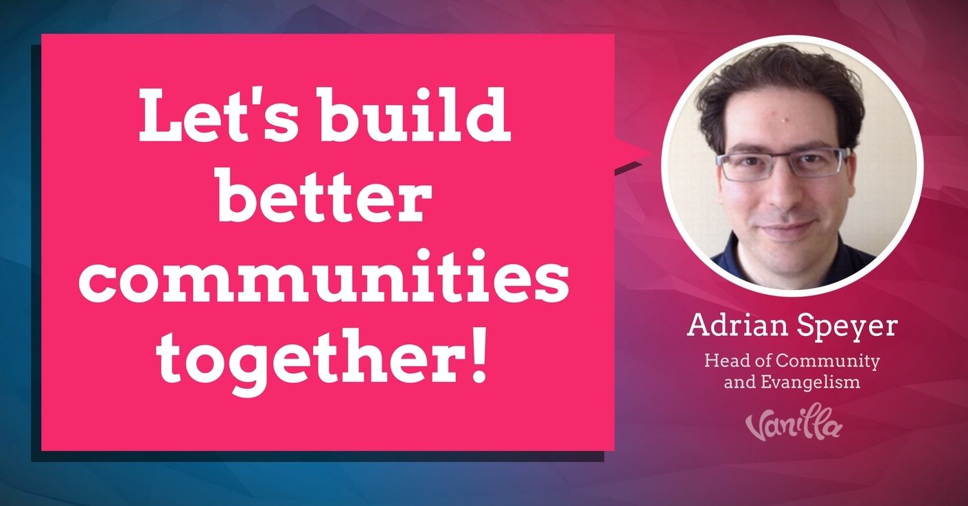 [Community] Let's Build Better Communities Together!