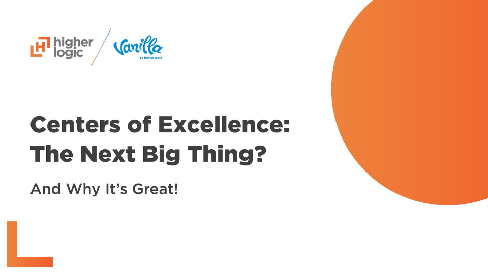 Centers of Excellence: The Next Big Thing for Community