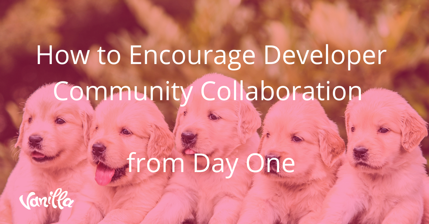 How to Encourage Developer Community Collaboration from Day One